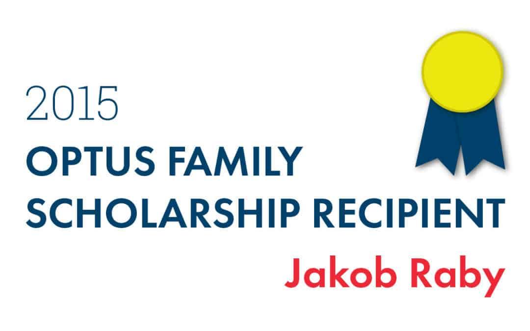 Optus Awards $1,000 Scholarship to Jakob Raby